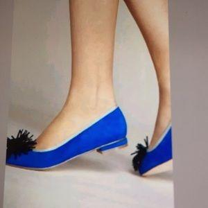 Anthropologie Pommed Ballet Flats Blue Size 9